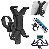 Ipad Holder for Spinning Bike,Universal iPad Mount for Indoor Gym Equipment Treadmill Exercise Bike,Adjustable 360°Swivel Cycling Bike iPad Mount for 7-12'' Tablets and iPads