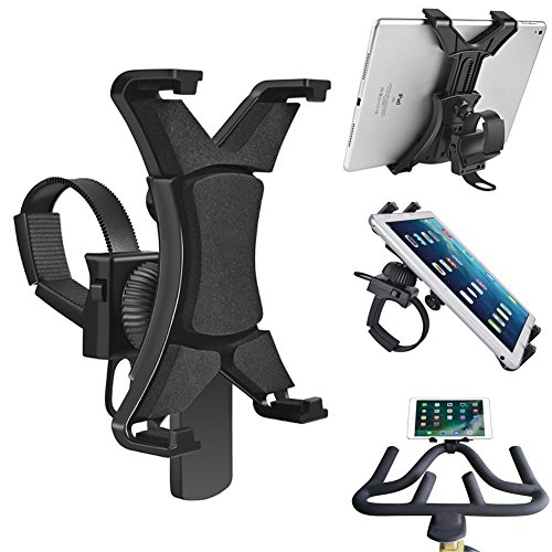 Ipad Holder for Spinning Bike,Universal iPad Mount for Indoor Gym Equipment Treadmill Exercise Bike,Adjustable 360°Swivel Cycling Bike iPad Mount for 7-12'' Tablets and iPads by webberstore