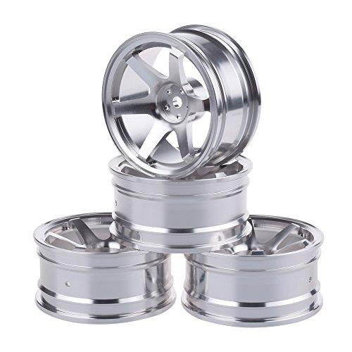 1/10 RC Drift Car Aluminium Alloy Wheel Hubs Diameter 52mm for HSP Sakura HPI Kyosho Tamiya RC Car Silvery