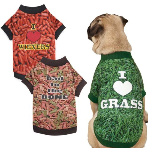 Real Photo Dog Tee - I Love Grass