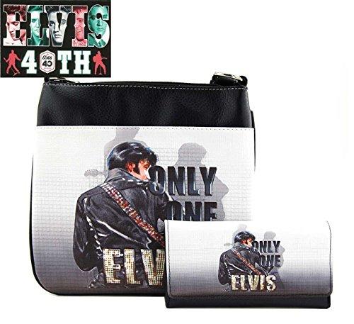 Elvis Presley Messenger Bag Wallet Set, ONLY ONE