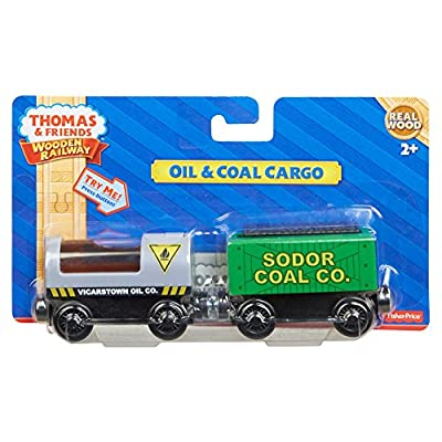 Fisher-Price Thomas & Friends Wooden Railway, Oil and Coal Cargo: Toys & Games