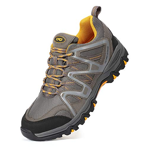 Pictures of The First Outdoor Men's Hiking Shoes 851802H01M47 Grey/Yellow 1