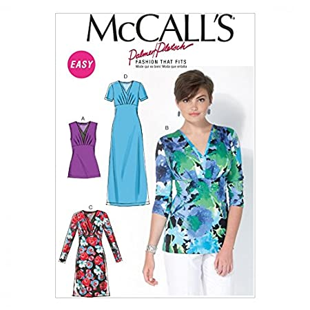 d561d73fa964 McCalls Ladies Sewing Pattern 7092 Stretch Knit Tops   Dresses ...
