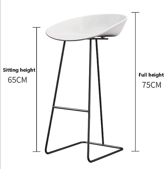 Retro Design Metal Round Counter High Stool Low Back 3 Size Options +A Colore : Nero, Dimensioni : 65cm Hongyan Sgabello da Bar
