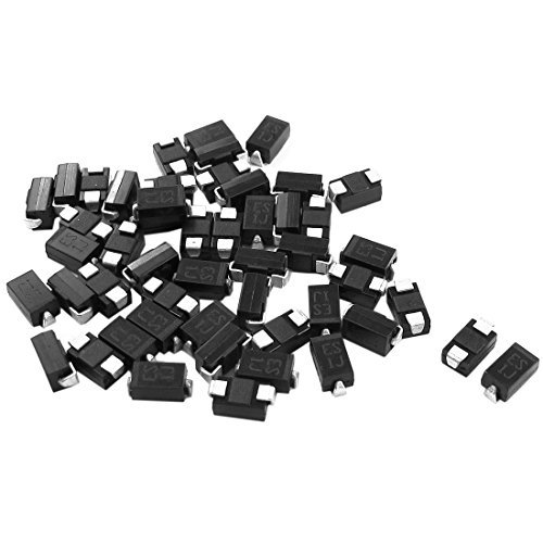 DealMux 50pcs Spare Parts DO-214AC 600V 1A SMT Ultra Fast Rectifier Diode ES1J