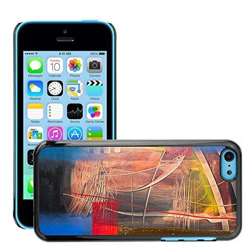 Premio Sottile Slim Cassa Custodia Case Cover Shell // V00001926 Peinture abstraite // Apple iPhone 5C