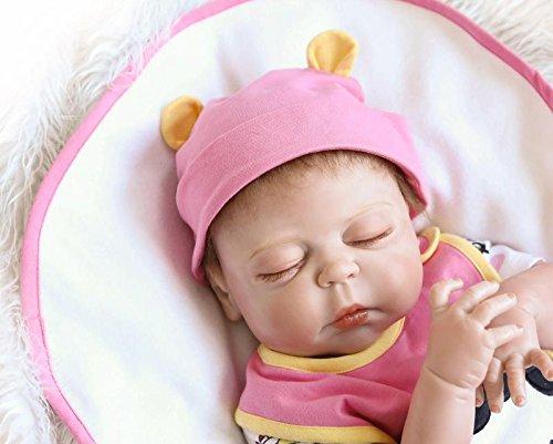 Amazon.es: NPK Linda bebé reborn realistas de vinilo cuerpo completo de silicona suave real niña muñecas niño Magnético Juguetes Dormir toddler 18inch 45CM: ...