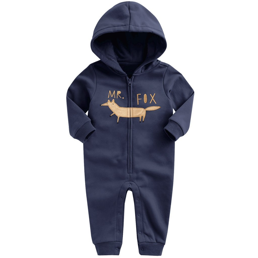 Baby Overall mit Kapuze M/ädchen Jungen Strampler Spielanzug Karikatur Baumwoll-Outfits 3-24 Monate