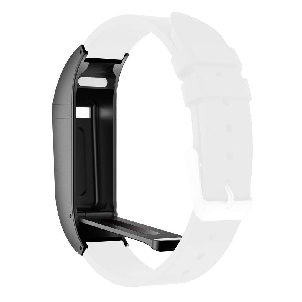 CapsA Metal Watch Protector Compatible Fitbit Flex Band Protective Watch Frame Bumper Protective Guard (Black)