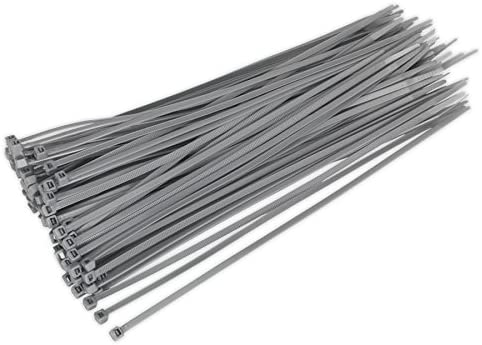 Silver//Grey 370mm x 4.8mm Wheel Trim Cable Tie 100pcs