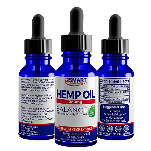 SHLs Hemp Oil 350 - Active Blended Hemp Extract - Pain and Anxiety Formulation - You Deserve The Best for Your Health and Well Being so Try This Powerful, Beneficial Safe Supplement (1oz/350mg Mint)