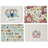 My Minds Eye NOM535039 Happy Camper Cards/Envelopes, 12 Per Pack, 4 Designs/3 Each