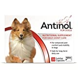 Antinol 100 Percent Natural Anti-Inflammatory with no Side Effects 30 Caps for Dogs By Vetz Petz