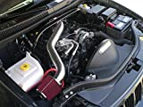 2005 2006 2007 2008 2009 Jeep Grand Cherokee Commander with 4.7L V8 Engine Air Intake Filter Kit System LONG VERSION (Red Filter & Accessories)