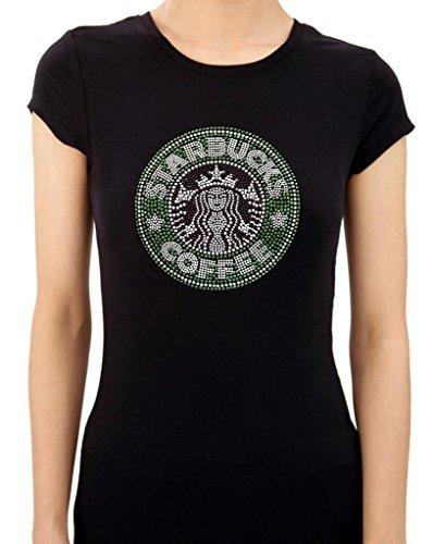 STARBUCKS HANDMADE Rhinestone/stud Womens T-Shirts