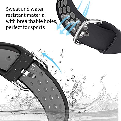 Acrbiutu Bands Compatible with Fitbit Blaze, Soft Silicone Breathable Replacement Sport Accessory Strap Wristband with Metal Frame for Fitbit Blaze Smart Fitness Watch Women Men 51yFCm9 HYL