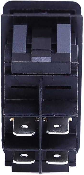 encendido//apagado de iluminaci/ón LED Hotsystem 2/V//24/V resistente al agua Interruptor de coche