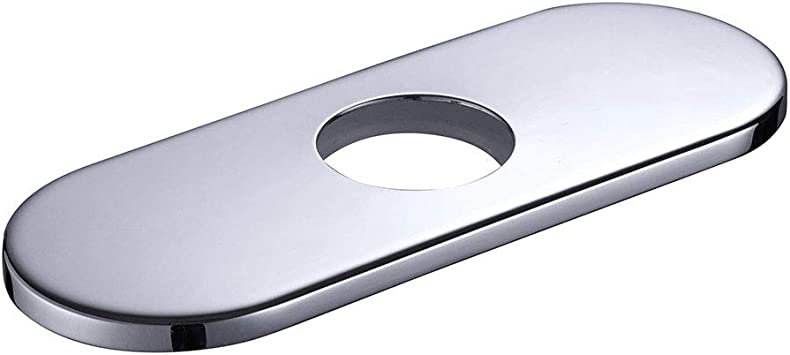 6 Universal Stainless Steel Kitchen Sink Faucet Hole Cover Deck Plate For Bathroom Or Kitchen Sink Faucet Plate Escutcheon Hole Diameter 1 3 8 Us Delivery Chrome Plating Amazon Com