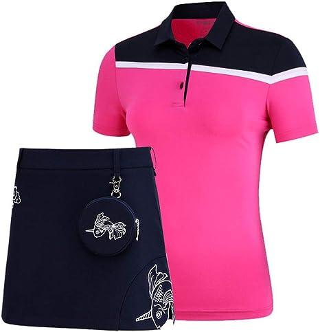Mhwlai Camisa de Golf de Color Mosaico para Mujer, Camiseta Deportiva de Verano con Cuello Abotonado y Manga Corta Camiseta de Golf Transpirable y de Secado rápido: Amazon.es: Deportes y aire libre