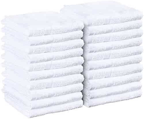 Cotton Salon Towels - Gym Towel - Hand Towel - (24-Pack, White) - 16 inches x 27 inches - Ringspun-Cotton, Maximum Softness and Absorbency, Easy Care – by Utopia Towels (White)