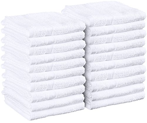 Cotton Salon Towels - Gym Towel - Hand Towel - (24-Pack, White)...