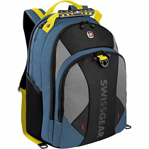 "SwissGear Pulsar Backpack With 16"" Padded Laptop Pocket (Dark Blue/Chart)"