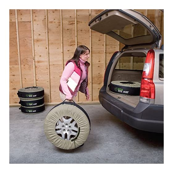 Kurgo Seasonal Tire Tote | Wheel Felts | Spare Tire Covers | Portable Wheel Bags | Winter Tire Cover | Storage Bag for…