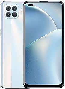 موبايل اوبو A93 بشريحتين اتصال - ذاكرة 128 جيجابايت، ذاكرة رام 8 جيجابايت، 4G LTE - ابيض ميتاليك