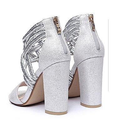 LvYuan Mujer-Tacón Robusto-Otro-Sandalias-Vestido Informal Fiesta y Noche-Purpurina-Negro Plata Oro Rosado claro Silver