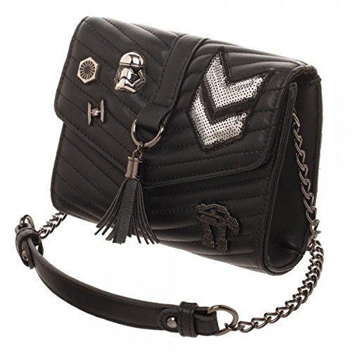 Dark Side Quilted Crossbody Bag With (Side Tassels)