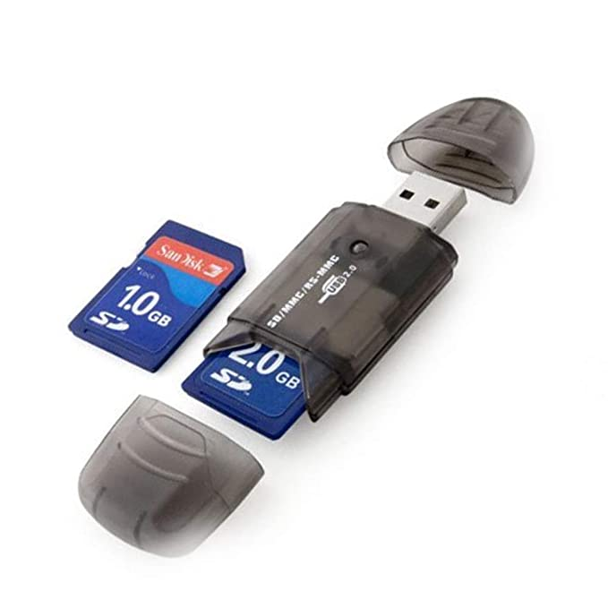 tarjeta SD y adaptador de la tarjeta no incluido Newin Star Accesorio Mini SD MMC T-Flash 2.0 lector de tarjetas USB Key Negro