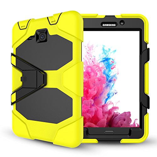 Samsung Galaxy Tab A 7.0 Case with Screen Protector,Jeccy Full-body Shock Proof Hybrid Heavy Duty Armor Defender Protective Case with Kickstand, Silicone Plastic Case for Samsung Tab A7 (SM-T280/T285) - Kickstand Wrap Case