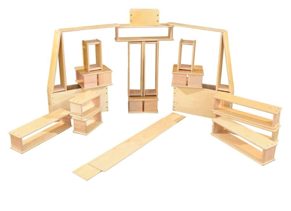 20-Pc Hollow Wooden Block