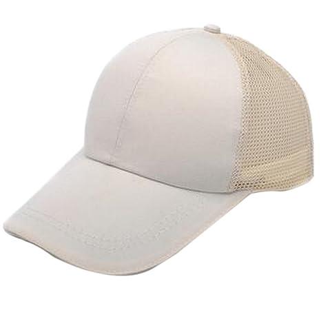 TREESTAR Gorra de béisbol para verano, color simple, con diseño de rejilla de espalda ajustable unisex, para deportes al aire libre, 1…