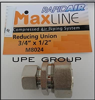 """MAXLINE Compressed air piping tubing 3/4"""" x 1/2"""" REDUCER UNION FITTING M8024"""