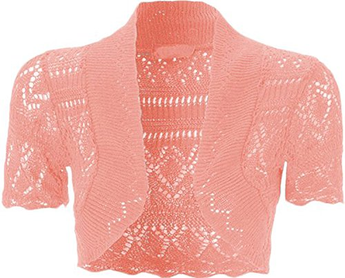 FashionMark Girls Kids Crochet Knitted Bolero Shrug Top