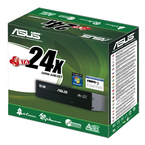ASUS Internal 24X SATA Optical Drive DRW-24B3ST/BLK/G (Black)