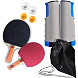 All-in-ONE Ping Pong Set - Includes Ping Pong Net for Any Table