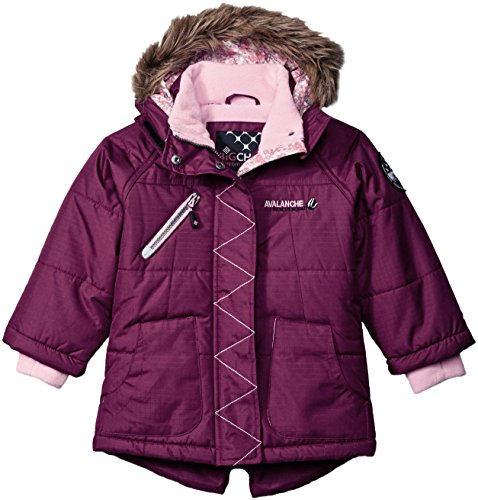 Big Chill Girls' Big Quilted Expedition Jacket, Magenta, 14/16