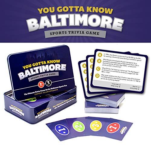 Baltimore Ravens Gift - You Gotta Know Baltimore - Sports Trivia Game