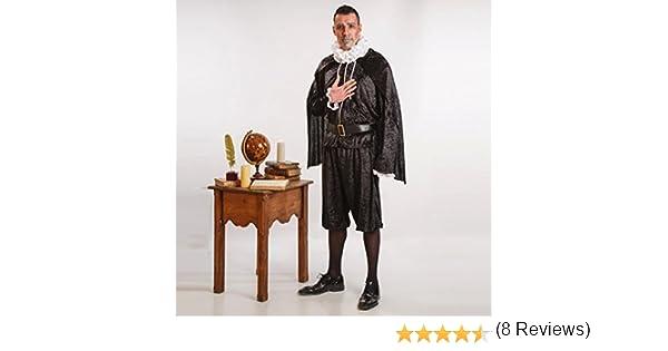 Disfraz de Cervantes para Hombre talla Universal M-L: Amazon.es ...