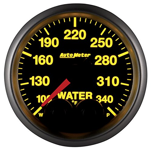 Auto Meter 5655 Elite 2-1/16'' 100-340 Degree Fahrenheit Water Temperature Gauge by Auto Meter