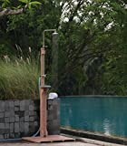 Cambridge-Casual AMZ-590073-R1 Willow Wooden Outdoor Shower, Weathered Finish