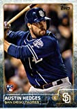 2015 Topps Update #US176 Austin Hedges Baseball Rookie Card in Protective Display Case