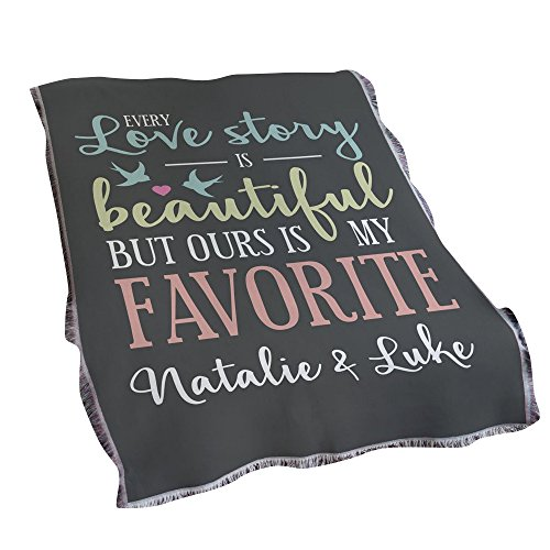 GiftsForYouNow Love Story Personalized Tapestry Throw ()