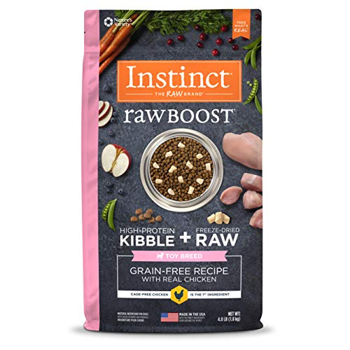 Instinct Raw Boost Toy Breed Grain Free Recipe With Real Chicken Natural Dry Dog Food By Nature'S Variety, 4 Lb. Bag