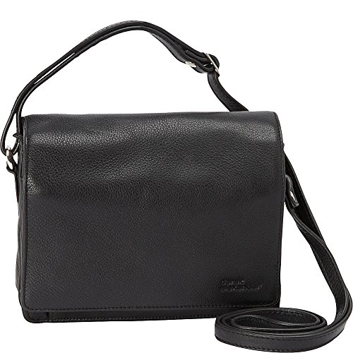 Derek Alexander Full Flap Multi Compartment Organizer Shoulder Bag ()