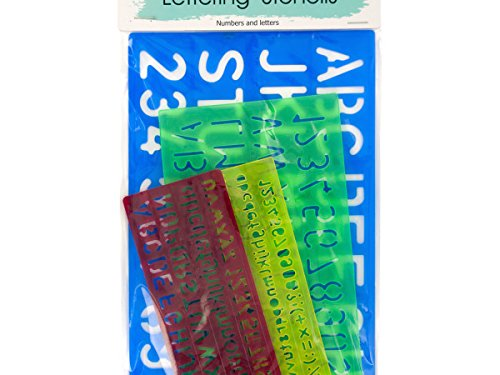 Number & Letter Stencils Set - Pack of 72 by Sterling