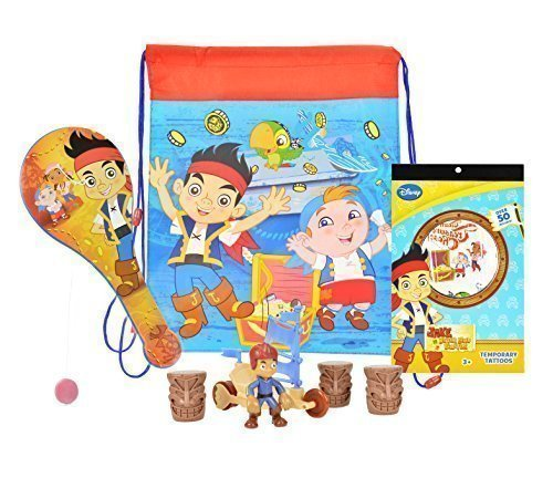 Disney Jake & The Neverland Pirates Party Pack Supplies, Value Bundle of Party Favors, Including Jake The Pirate Sling -